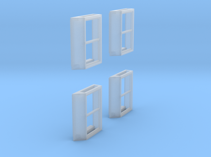 All-Weather Window for O Scale Diesels (4 pack) 3d printed