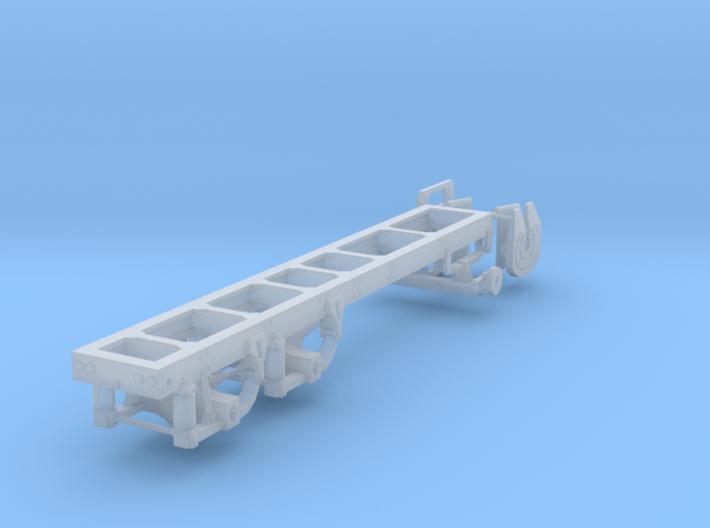 "1/87th Tandem truck frame, 175"" Wheelbase 3d printed"