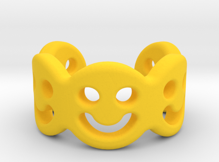 Smiley Row Larger Smile 3d printed