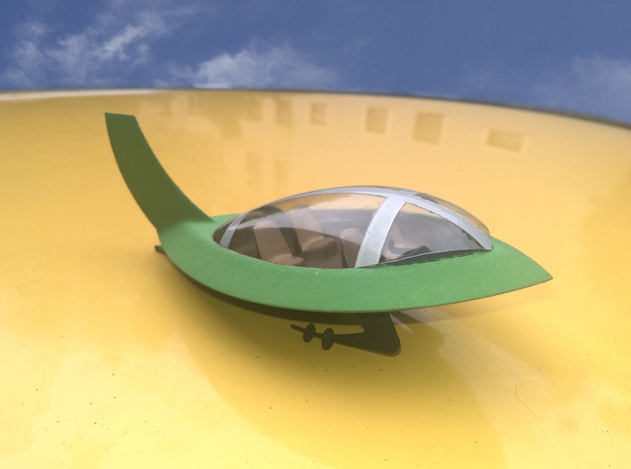 Jetsons Hull Solid 3d printed The Jetsons car with R/C airplane canopy