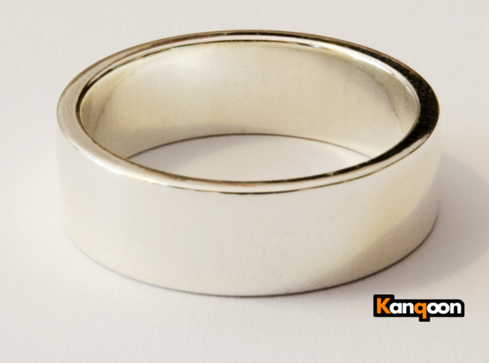 Bruno - Ring 3d printed Polished Silber