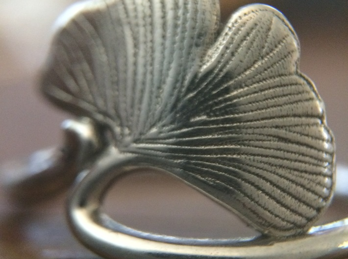Ginkgo Leaf ring 3d printed