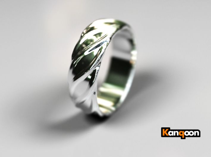 Ringo - Ring - US 9 - 19mm 3d printed Polished Silver PREVIEW