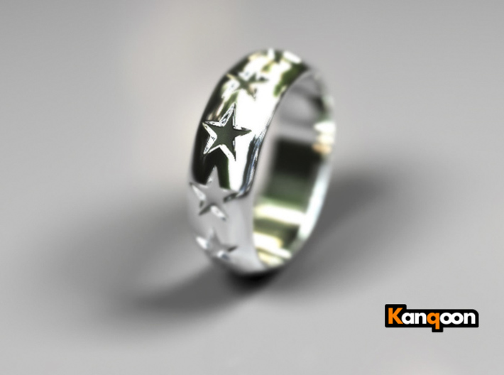 Eugen - Ring 3d printed Polished Silver Preview
