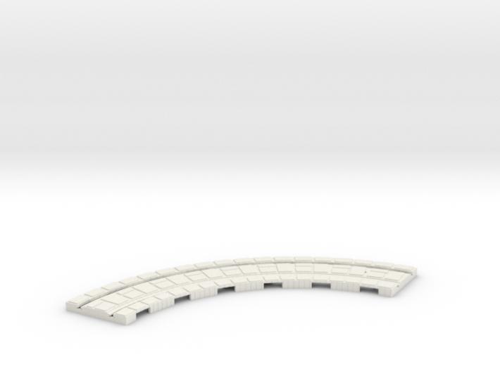P-165stg-long-curve-100r-100-1a 3d printed