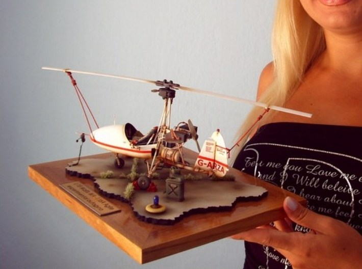 1/18 scale Wallis WA-116 Agile autogyro model kit 3d printed