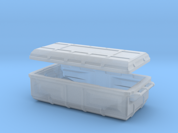 sci fi cargobox with lid 3d printed