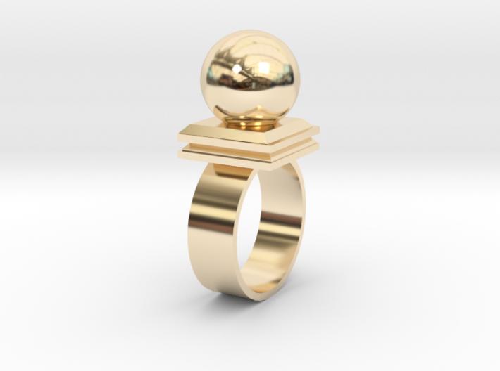 Ballin' Ring 3d printed