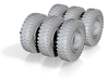 ACCO TIre Road 1 35 6NOS 3d printed