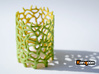Coraline Tealight Green/Yellow Sandstone 3d printed Full Color Sandstone printed