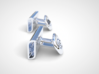 Emboldening HTML cufflinks 3d printed This image is a render