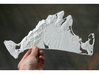 "Martha's Vineyard, MA, USA, 1:100000, 13'' 3d printed Photograph of the full 12"" model"
