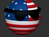 Countryballs USA with glasses 3d printed Countryballs USA - 3D render