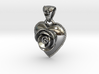 SILVER HEART ROSE 3d printed