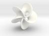 Geometric Pendant -  Mobius Flower 3d printed