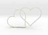 2 Hearts pendant 3d printed