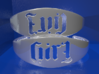Bangle Evil Girl 180 Rotational Ambigram 01 3d printed