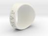 Superball Gem Ring 3d printed