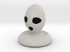 Halloween Character Hollowed Figurine: AlienGhosty 3d printed