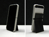 "Cariband case for iPhone 5/5s, ""holds stuff"" 3d printed White Strong & Flexible POLISHED, business card as stand for portrait view"