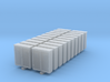 Trackside Relay Box - Set of 20 - Nscale 3d printed