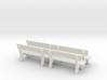 1:43,5 Spur 0 - 4x Parkbank / Park Bench - Spur /  3d printed