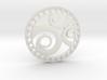 Snail gold earring 3d printed