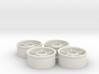 Front wheelset 19.5mm, -0.5mm, 2pr 3d printed