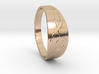 Size 11 M G-Clef Ring  3d printed
