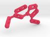 Azidoazide Azide Molecule Necklace 3d printed Azidoazide azide molecule in pink plastic. Nasty.