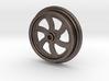Curved Spoke Railroad Wheel 3d printed
