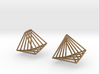 Rotating triangle earrings 3d printed