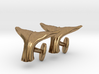 Whale tail cufflinks 3d printed