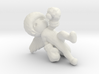 Afro Angel Keychain 3d printed