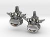 Lumbar Vertebra Cufflinks - Uninscribed 3d printed