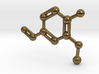 Vanillin Molecule Big (Vanilla) Necklace Pendant 3d printed
