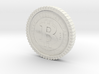 Bitcoin high detail 3d printed
