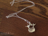 Anatomical Lumbar Vertebra Pendant 3d printed Chain not included.