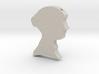 Jane Austen Cameo Pendant Necklace 3d printed