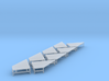 N Scale Angular Loading Dock 4 Left+4 Right 3d printed