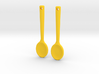 Spoon Earrings 3d printed