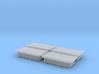 "Enclosure 24x12"" flat cover 4pcs, 1/18 scale 3d printed"