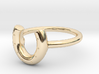 Horse Shoe Ring 3d printed