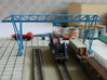 N Scale Gantry Crane 184mm 3d printed Painted crane, crane rails not installed yet