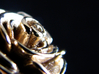 Rose Ring (multiple sizes) 3d printed Closeup of the flower