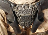 "Immortan Joe ""49"" Codpiece Badge / Emblem 3d printed A look at the screen-used reference prop."