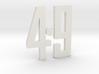 """Immortan Joe """"49"""" Codpiece Badge / Emblem 3d printed"""