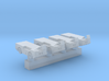 1:350 Scale P-16 Aircraft Carrier Fire Truck (4x) 3d printed