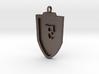Medieval F Shield Pendant  3d printed