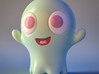 Boo-Boo the little ghost 3d printed 3D render (Full Color Sandstone is not this glossy)